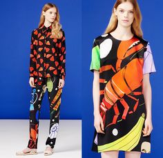 Novis NYC 2016 Resort Cruise Pre-Spring Womens Lookbook Presentation - Windowpane Check Pop Art Seafood Lobster Strawberries Fruit Bananas Halter Top Skirt Frock Blouse Long Sleeve Pants Trousers Tankdress One Off Shoulder Shorts Knit Sweater Jumper Stripes Banded Strap Maxi Dress Dots