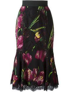 Dolce & Gabbana Saia midi estampada