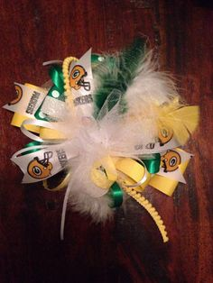 Green Bay Packers Over the Top Boutique hair by ThePrissyPelican