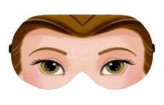 Belle Beauty and the Beast Sleep Sleeping Eye Mask Masks Blindfold Travel Kit Shade Shades cover Slumber Slumbers Blindfolds Present Gift by venderstore on Etsy