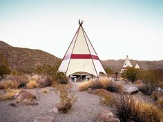 Ryann Ford. Near Lajitas, Texas – FM 170 – This is one of the most remote rest areas in the country. These teepees are hidden just outside Big Bend National Park, right on the Rio Grande, which divides the United States and Mexico. As we were shooting, a pack of Javelinas ran by.
