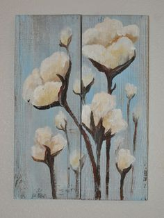 """""""Old Cotton"""": acrylic paint on reclaimed wood @Chelsea Prince I like this!"""