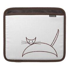 Brown cat sleeve iPad sleeve