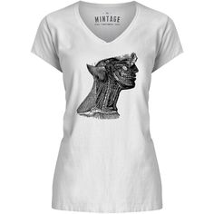 Mintage Arteries of the Neck Womens V-Neck T-Shirt