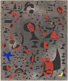 Constellation: Toward the Rainbow  Joan Miró (Spanish, Barcelona 1893–1983 Palma de Mallorca).  Date: 1941. Medium: Gouache and oil wash on paper. Dimensions: 18 x 15in. (45.7 x 38.1cm)
