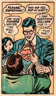 Superman is frugal
