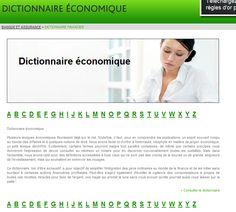 Lexique économique hébergé sur un site dédié principalement aux domaines de la banque et de la finance