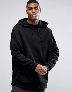 84a598e3ddddb Asos Extreme Oversized Hoodie In Black Ellesse