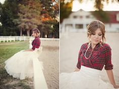 LOVE this... LOVE this! Would be perfection for a fall winter session, or switch up the plaid for pastel/denim shirt for summer spring!