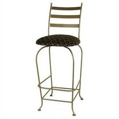 "Grace Carolina 24"" Swivel Bar Stool Upholstery: Cimarron Levante, Base Finish: Burnished Copper"