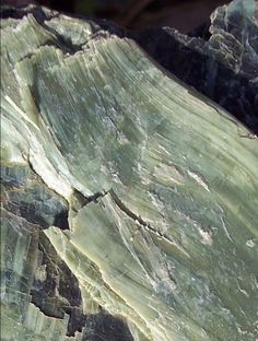 The California state rock, Serpentine. A rare rock, but lots can be found in the SF Bay Area, like in Marin!