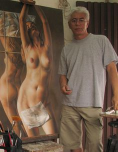 Fredy Jimenez nacio en Cali, Colombia 1961 es un Pintor Autodidacta Coloca al ser humano frente a poemas de amor, reclama para el arte la radiante belleza de los colores. Ajeno a todo dogmatismo.
