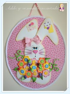 A lovely bunny with flowers - http://addisysumundoencantado.com/wordpress/downloads/a-lovely-bunny-with-flowers/
