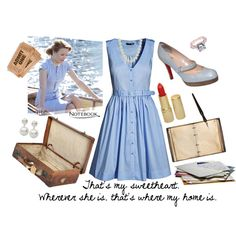 Allie Hamilton (The Notebook) Inspired - Polyvore: This would make an awesome Halloween costume, and my man could dress as Noah. <3