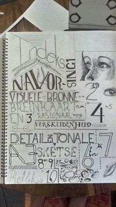 Index for art journal (A2).  School art.
