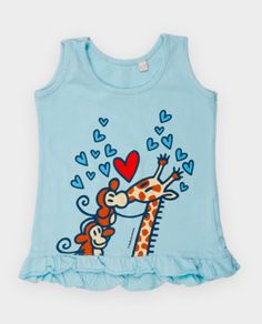 Kukuxumusu camiseta bebé 0-24 meses jirafa. www.patasarribashop.com