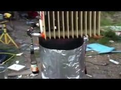 ▶ Wood Biomass Gasifier, The Journey to the blue flame - YouTube
