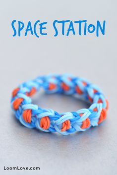 How to Make a Space Station Bracelet - Rainbow Loom Video Tutorial