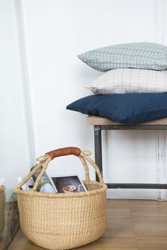 #pillows #basket   Dille & Kamille