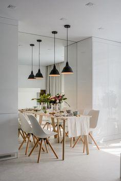 Modern lakberendezés új építésű kis lakásban - 39m2-es keskeny egyszobás tér ügyes kialakítása - zónák, funkcionalitás Small Spaces, Condo, Chair, Modern, House, Furniture, Design, Home Decor, Flat