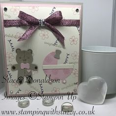 Stamping with Stazzy: ❁ Baby Girl Card ❁ Hi Everyone, I wanted to come . Baby Girl Cards, Pretty Baby, Stamping, Highlights, Cookie, Card Making, Baby Shower, Community, Messages