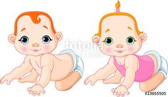 """""""Cute  babies"""" Stock image and royalty-free vector files on Fotolia.com - Pic 19855505"""