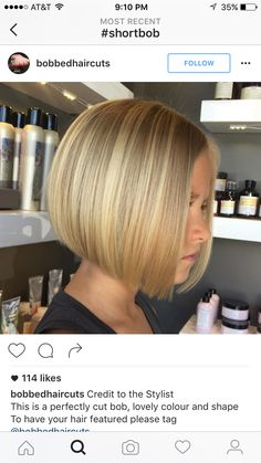 New Bob Haircuts 2019 & Bob Hairstyles 25 Bob Hair Trends for Women - Hairstyles Trends Medium Hair Styles, Curly Hair Styles, Inverted Bob, Blunt Bob Hairstyles, Bob Haircuts, Hair Day, Gorgeous Hair, Short Hair Cuts, Hair Trends