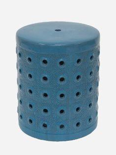 Banqueta-de-Ceramica-Garden-Seat-Azul