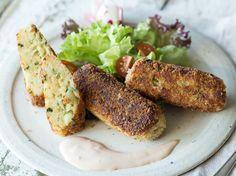 Couscous-Kroketten mit Käse und Zwiebeln