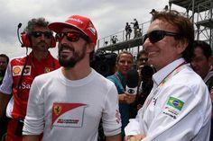 Alonso and Emerson Fittipaldi