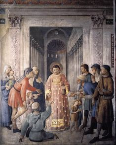 Fra Angelico. St. Lawrence giving alms. 1449. Capella Niccolina, Vatican.