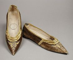 Decorated dancing slippers at LACMA, 1800