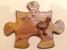 """Cairo"" by geekgirl1000100 // Altered Puzzle Piece Swap Round 9 @ craftster.org"