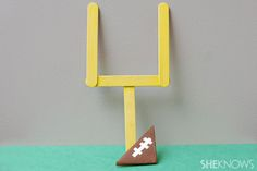 Paper football and goal - crafts for kids...only this one I think the big kids would like too...