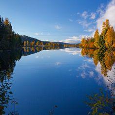 River Glomma - Heradsbygd, Elverum, Hedmark. Norway.  Our longest river.