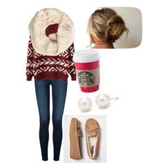 A fashion look from December 2014 featuring J Brand jeans, American Eagle Outfitters loafers and Tiffany & Co. earrings. Browse and shop related looks.