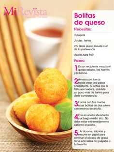 Receta: Bolitas de queso(fried balls of egg corn flour and cheese of your choice!! glorious!)