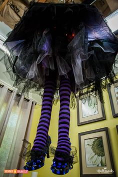 The ultimate Witch Leg Chandelier - @tmemme28 creates on Home and Family!