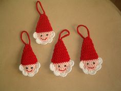 Father Christmas heads crochet