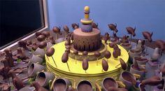 Chocoladetaart komt tot leven, wow!