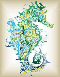 Abstract Seahorse Royalty Free Stock Vector Art Illustration