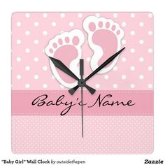 """Baby Girl"" Wall Clock"