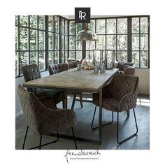Anlaufstelle Nr. 1 in einem Zuhause ist rund um den Esstisch. Hier sitzt man zusammen, um einem Essen einen bedeutsamen Rahmen zu verleihen. Wenn du die passenden Sessel für deinen Esstisch suchst, dann wirst du mit dem bequemen und stabilen Sessel Frisco Drive von Riviera Maison von #freudenreich Partner @gehmacher deine Freude haben. Aufgrund seiner klassischen Erscheinung passt es in nahezu jedes Interieur. Partner, Dining Table, Furniture, Home Decor, Salzburg Austria, Glee, Dinner Table, Armchair, Frame