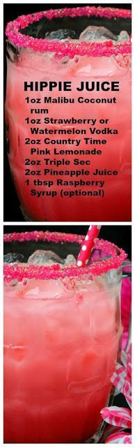 juice Hippie Juice ~ One of those beautiful drinks, that taste incredible but pack a punch!Hippie Juice ~ One of those beautiful drinks, that taste incredible but pack a punch! Liquor Drinks, Cocktail Drinks, Cocktail Recipes, Alcoholic Drinks, Bourbon Drinks, Juice Drinks, Craft Cocktails, Refreshing Drinks, Yummy Drinks