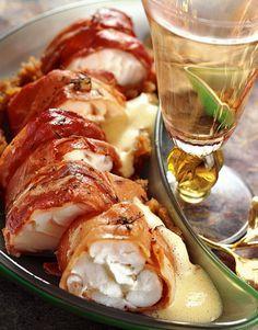 Rôti de lotte, sabayon à la mandarine - Cuisine et vins de France !
