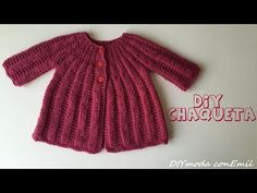 Cómo tejer chaqueta de lana para niña 2 de 2 partes - YouTube