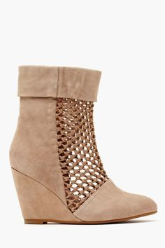 Ashia Wedge Boot - Taupe in Shoes at Nasty Gal Wedge Ankle Boots, Mid Calf Boots, Thigh High Boots, Shoe Boots, Wax Center, Diva Nails, Shoes Heels Wedges, Pumps, Sandals