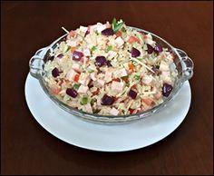Salada de Arroz Integral e Peito de Peru