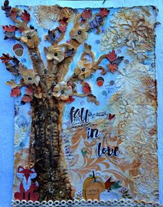 """Donna Salazar Designs: """"Fall"""" in Love Wall Hanging by Misty Russell"""
