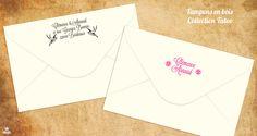 Tampon mariage vintage - Tatoo - personnalisable avec vos initiales, prénoms, adresse